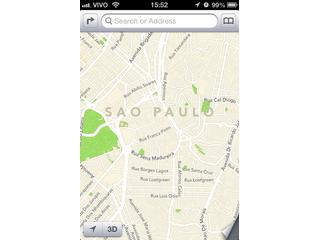 App de Mapas da Apple fica melhor no Brasil com o iOS 6 Beta 2