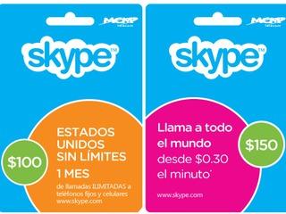 Skype testa cartões pré-pagos no México