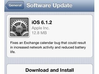 Apple libera iOS 6.1.2 para todos os usuários