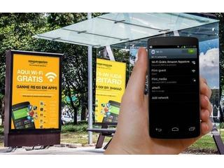 Amazon põe internet gratuita em 30 pontos de ônibus em SP