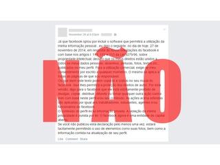 Aviso de privacidade no Facebook continua sendo apenas um viral enganoso