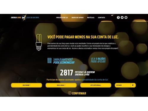 Campanha mostra redução na conta de luz se consumidor puder escolher fornecedor