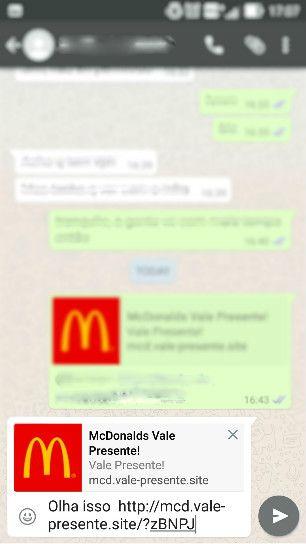 Cuidado: cupom falso do McDonald's está rodando como isca no WhatsApp