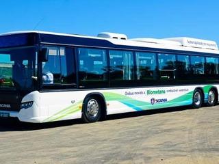 Ônibus movido a cocô de frango emite 70% menos poluentes que um a diesel