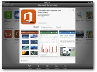 Microsoft lança Office para iPad