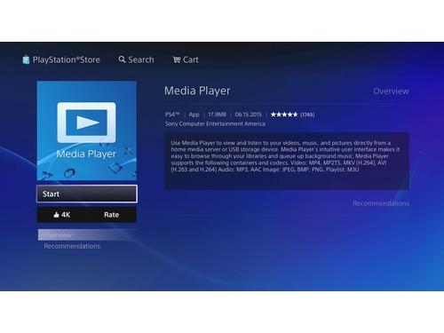 Media Player do PS4 será atualizado para a versão 2.50 em breve