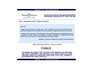 Falso e-mail do Serasa contém malware