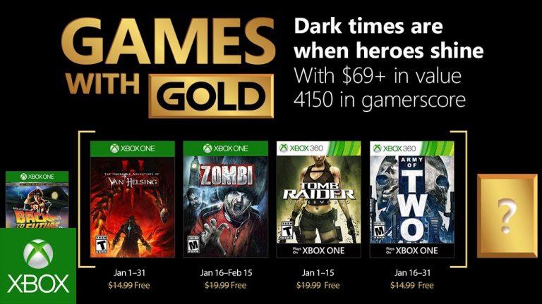 Confira a lista de jogos gratuitos da Games With Gold para janeiro de 2018