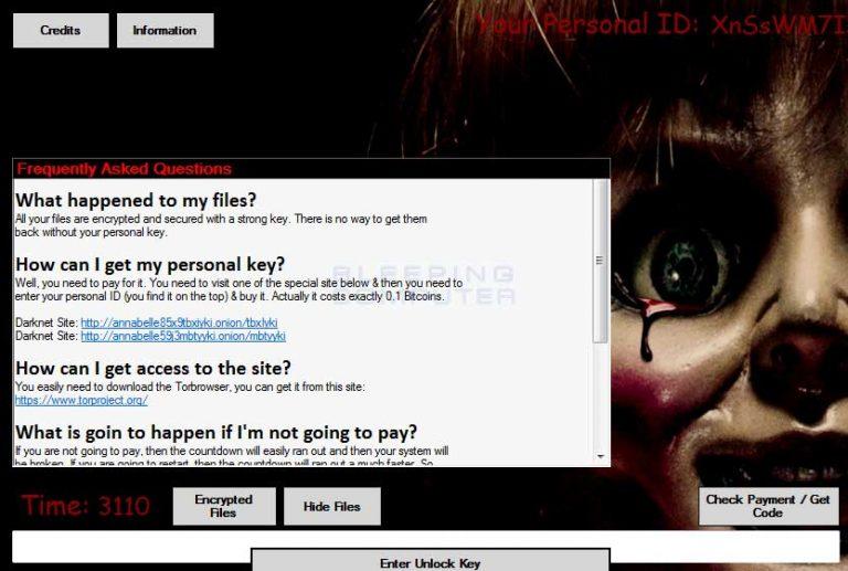 Ransomware Annabelle é a nova ameaça que ronda a web