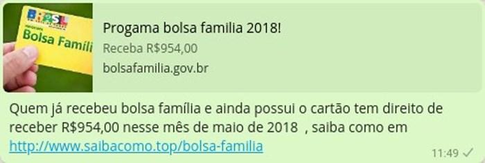 Golpe do Bolsa Família no WhatsApp chegou a mais de 600 mil brasileiros