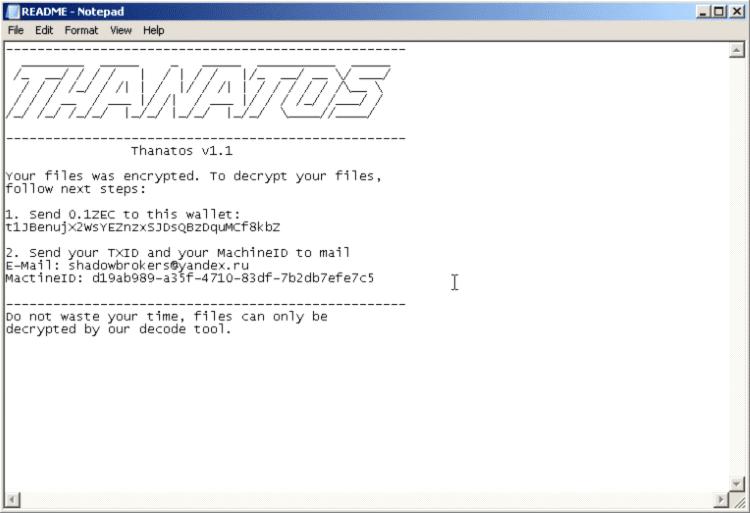 Ferramenta para recuperar arquivos bloqueados pelo ransomware Thanatos já está disponível