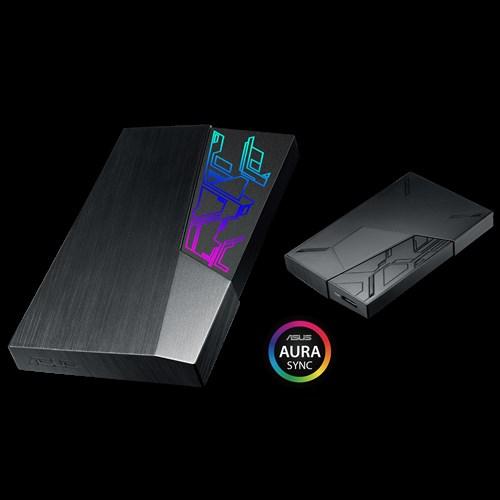 Asus anuncia HDDs externos FX com LEDs RGB e Aura Sync