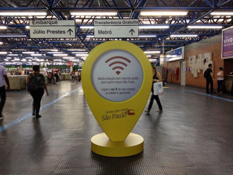 Wi-Fi grátis é liberado em mais três estações em São Paulo