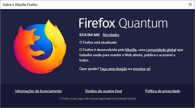 Firefox Quantum 63 é oficialmente lançado