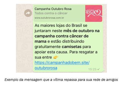 Outubro Rosa agora vira golpe no WhatsApp