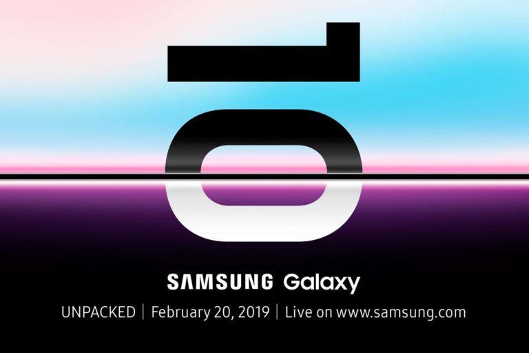Galaxy S10 chega no dia 20 de fevereiro!