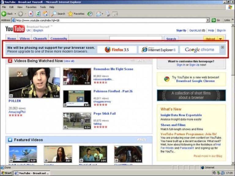 🛡️ Ex-desenvolvedor do Youtube revela como ajudou a acabar com o Internet Explorer 6