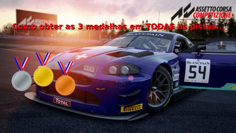 🎮 Assetto Corsa Competizione – Como obter as 3 Medalhas em TODAS as pistas