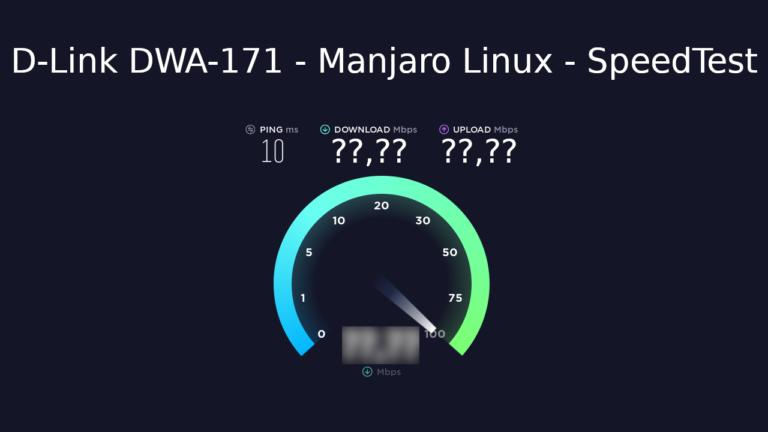 D-Link DWA-171 – Teste de velocidade no Manjaro Linux