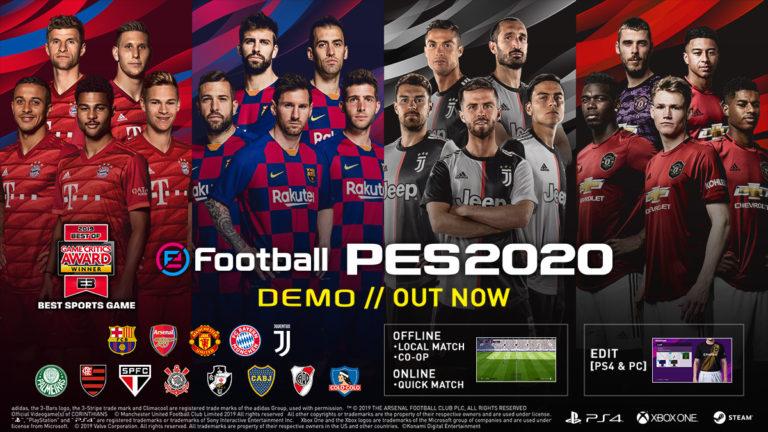 🎮 eFootball PES 2020 já tem demo gratuita com 13 times para testes; Baixe agora!!