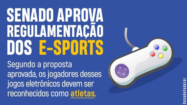 🎮 Senado aprova regulamentação dos e-sports no Brasil