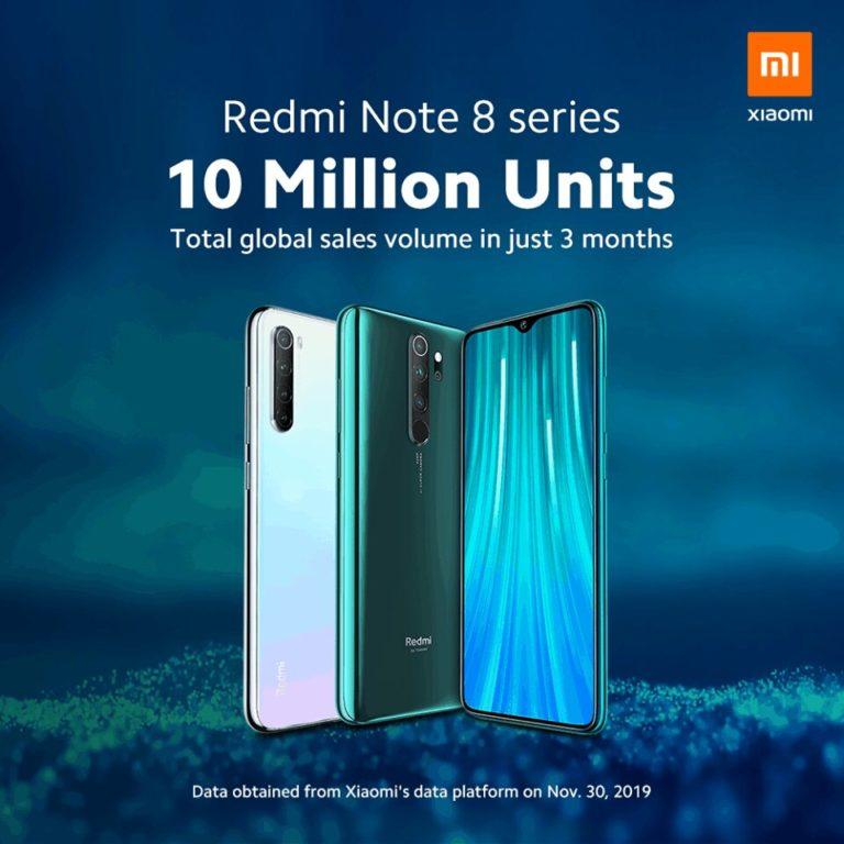 📱 Redmi Note 8 e 8 Pro batem novo recorde mundial de vendas