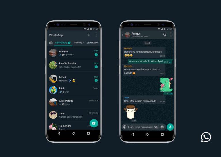 📱 Atualização disponibiliza o modo escuro no WhatsApp; Veja como ativar