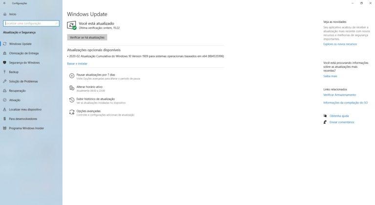 🧨 KB4535996 traz mais problemas em atualização cumulativa do Windows 10