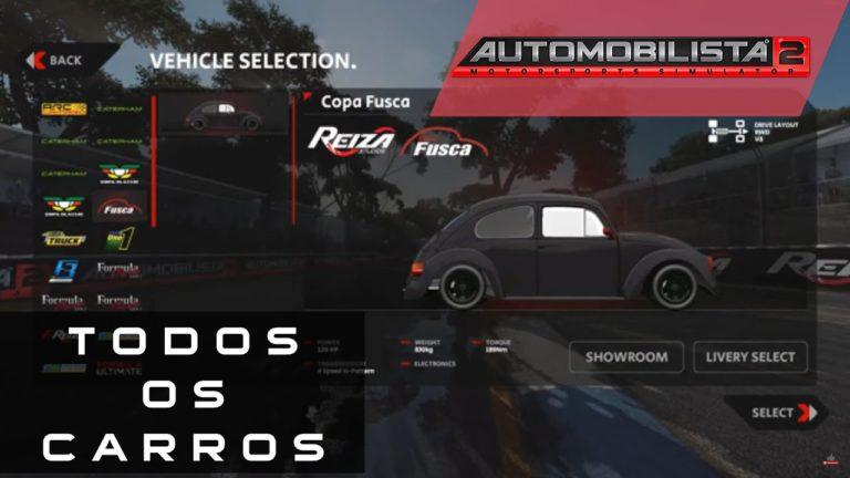 🔴 AUTOMOBILISTA 2 – TODOS OS CARROS DO JOGO