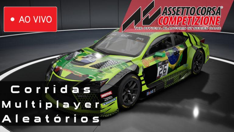 🔴 🏁 LIVE – Assetto Corsa Competizione – Lexus RC F GT3 – Servidores Aleatórios – 28/05/2020