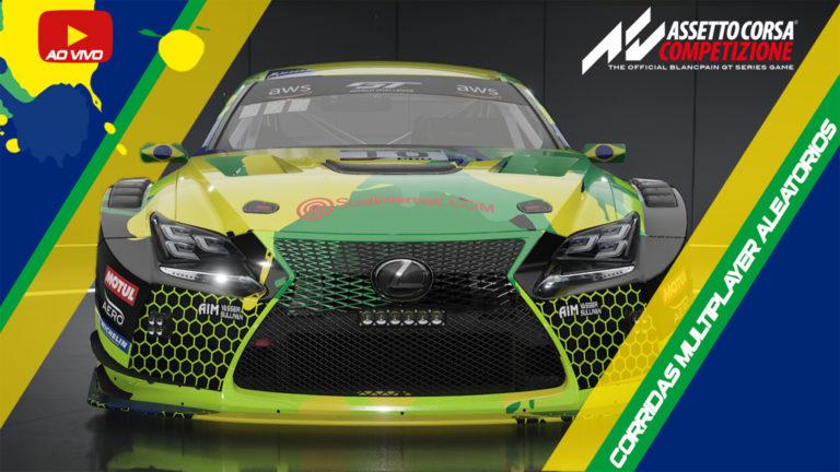 🔴 🏁 LIVE – Assetto Corsa Competizione – Lexus GT3 – Competição e Aleatórios – 05/07/2020